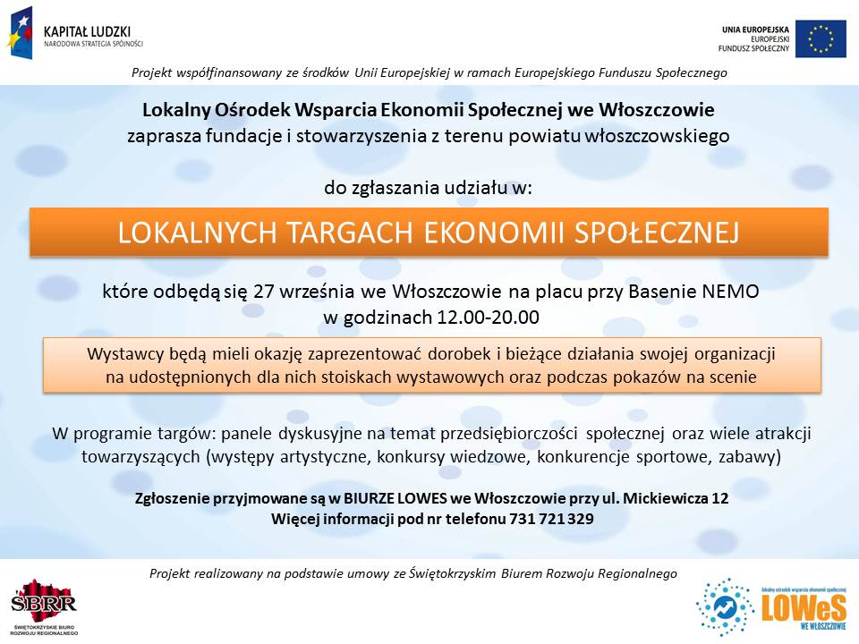targi ekonomii społecznej Włoszczowa 3