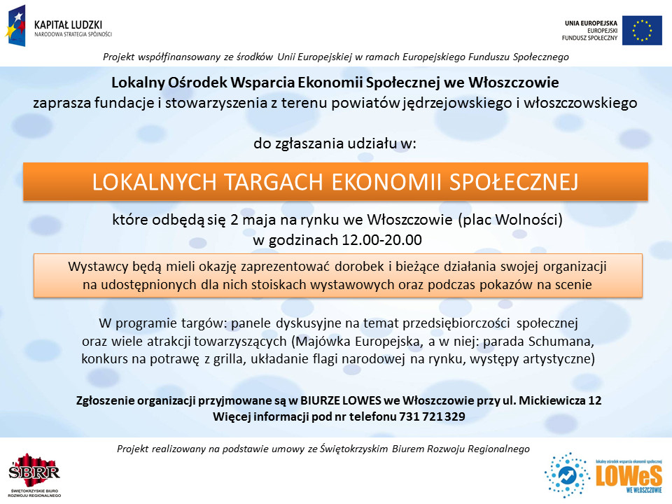 targi ekonomii społecznej Włoszczowa nowe
